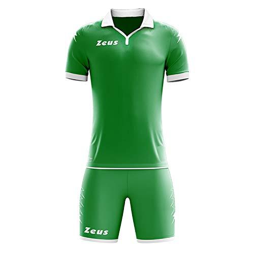 Zeus Scorpion Maillot de football pour homme et femme Vert Blanc Taille S