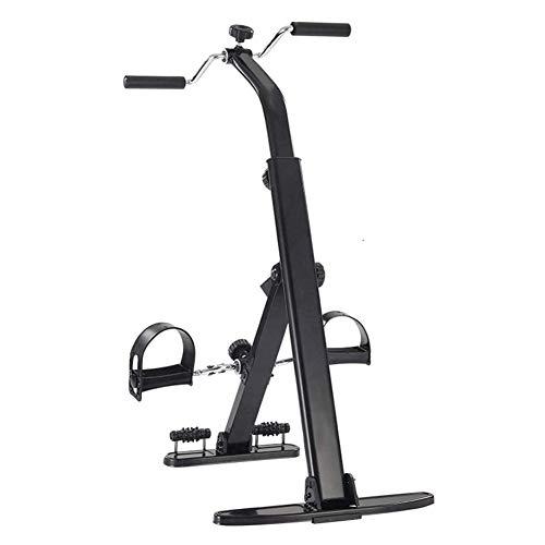 Pedales Estaticos Mini Bicicleta Estatica Pedalear ejercitador vendedor ambulante de brazos y piernas hasta la rodilla con la recuperación del ejercicio Monitor LCD y rodillos de masaje, Fitness Gym E