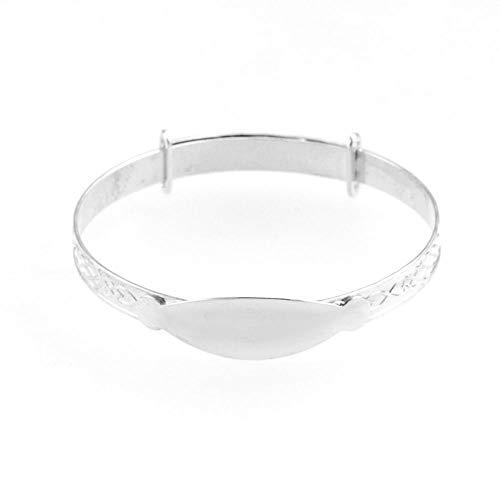 Eternity Sterling Silver Expanding Identity Baby Bangle
