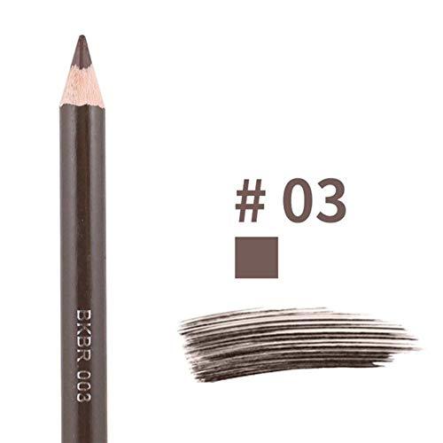 NMT Crayon à Sourcils à Double tête imprimé léopard avec Pinceau à Sourcils Teinte Cosmétique Outil de Maquillage Longue durée, 03