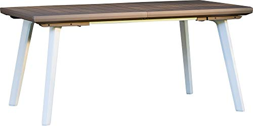 Bauer Tavolo da Giardino Allungabile 240x100x74 cm in Resina Harmony Tortora