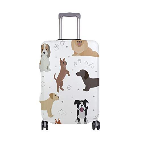 BALII niedlicher Trolley-Koffer mit Hundemotiv, elastisch, passend für 45,7–81,3 cm Gepäck
