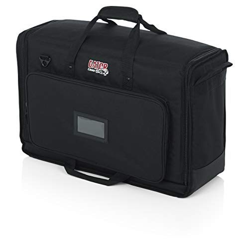 Gator Cases Padded Nylon Dual Carry Tote Bag for Transporting (2) LCD Screens, Monitors and TVs Between 19' - 24'; (G-LCD-TOTE-SMX2)