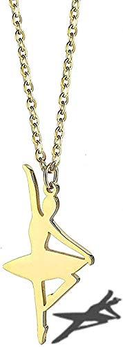 NC190 Collar Collar de Acero Titanio bañado en Oro