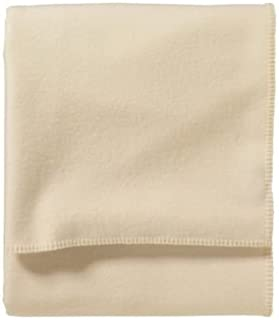 Pendleton Eco-Wise Wool Washable Queen White Blanket