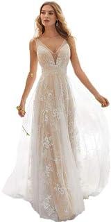 pretty nice 299c1 f99e7 Amazon.it: vestiti da sposa eleganti bianchi - Ultimo mese ...