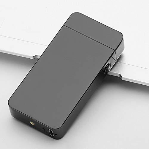 takestop® aansteker met lichtboog, winddicht, oplaadbaar, compact, winddicht, USB, zonder vlam, geen gas, kleur willekeurig