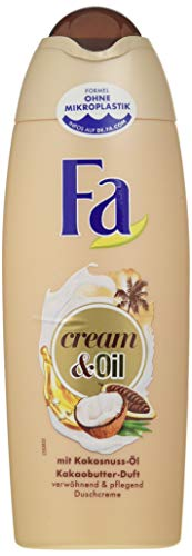 FA Duschcreme Cream & Oil mit Kokosnuss-Öl und Kakaobutter-Duft, 6er Pack (6 x 250 ml)