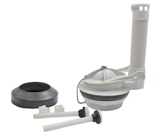 Toilet Tank Flush Valve Repair Kit, with Gasket and Bolts Fits 3-Inch Two-Piece Toilet