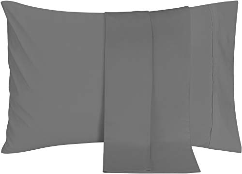 Utopia Bedding Pillowcases - 2 Pack - Envelope Closure - Soft Brushed Microfiber Fabric- Wrinkle, Shrinkage and Fade Resistant Pillow Covers 20 X 40 (King, Grey)