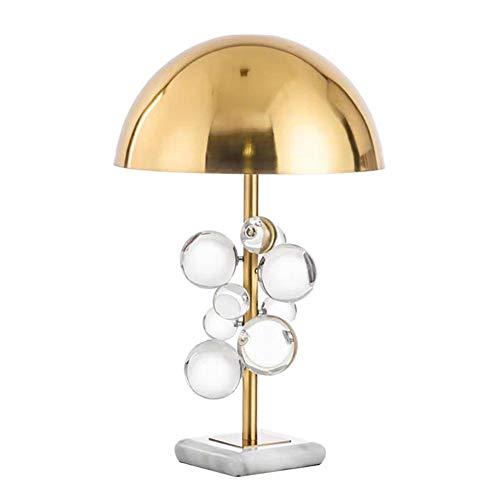 Moderno Colorido Cristal Lámpara Escritorio,Sencillez Decorativa Regalo Caliente Lámpara De Mesa,Pantalla De Metal E27 Salón Dormitorio Oficina-Cristal transparente 35 * 58cm