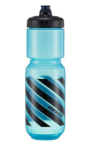 Giant Trinkflasche für Fahrrad, Sport, Hellblau, Schwarz, Hellblau, Schwarz, 750 cc, doppelwandig, transparent, BPA-frei