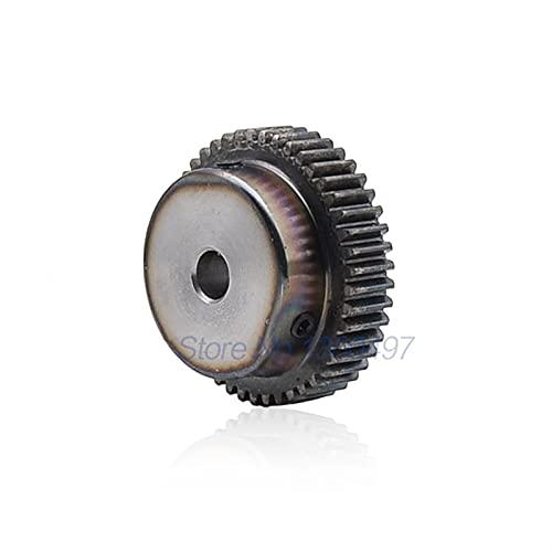 NO LOGO L-Tao Stirnrad Ritzel 1M 60T 60Teeth Mod 1 Breite 8mm Bohrung 6mm 8mm 10mm Rechte Zähne A3 Stahl CNC Zahnstange Getriebe Industrie Diameter : 6mm