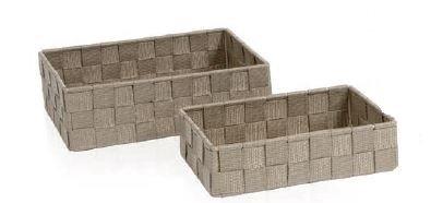 Andrea BA8028 House-Set de 2 Boîtes Entre.Beige Rectangulaire