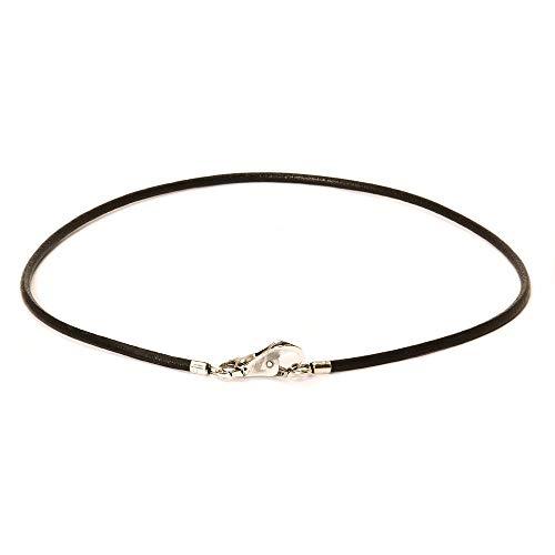 Trollbeads Necklace Schwarze Leder Halskette, 45 cm