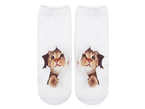 Unbekannt Socken bunt mit lustigen Motiven Print Socken Motivsocken Damen Herren ALSINO, Variante wählen:SO-L008 Katze