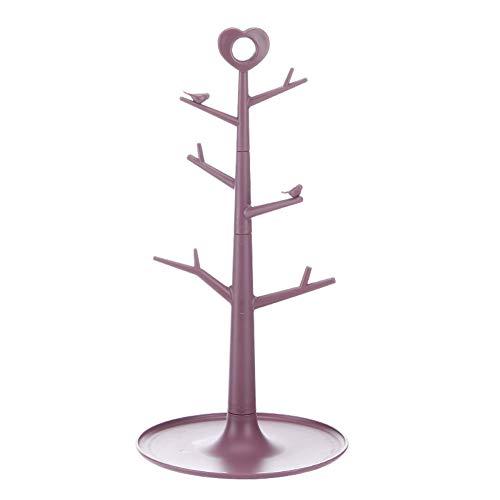 ASR Estante para joyas de plástico, soporte para escurrir y escurrir, para biberón, cubiertos, tetinas, collares, pendientes, anillos, vasos (C)