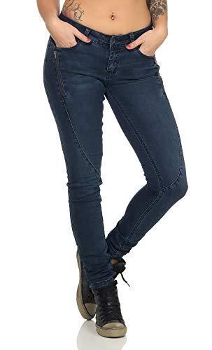 Buena Vista Malibu Zip K Stretch Denim Tolle Damen Jeanshose mit Reißverschluss Dark Blue XL