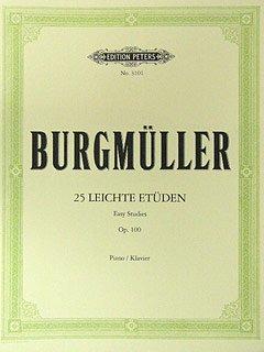 25 LEICHTE ETUEDEN OP 100 - arrangiert für Klavier [Noten / Sheetmusic] Komponist: BURGMUELLER FRIEDRICH