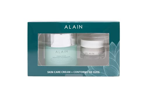 Alain Pack Moisture Balancing Skin Care +Contorno Ojos Producto Terminado - Crema para Pieles Grasas, 50 ml