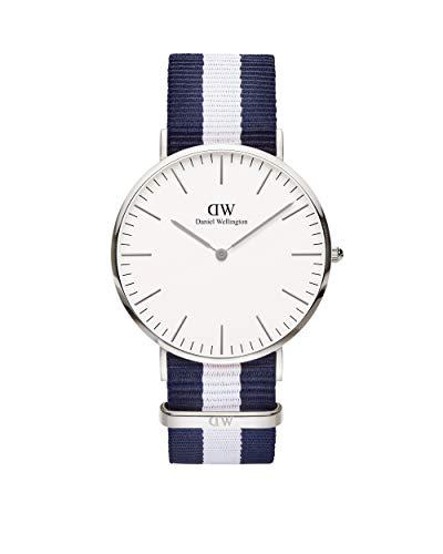 Daniel Wellington Classic Glasgow, Reloj Azul-Blanco/Plateado, 40mm, NATO, para Hombre