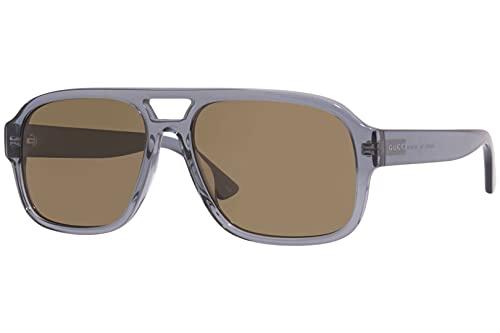 Gucci GG 0925S 004 - Gafas de sol de aviador (plástico), color marrón