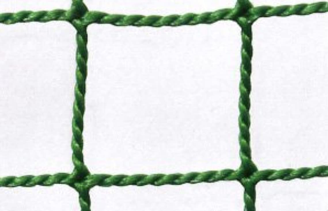 未就学最終的にアーサーコナンドイル防球ネット 防球網 無結節440t(440d)60本|目合:37.5mm|グリーン|大きさ:5m×16m