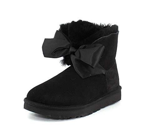 UGG Damen Gita Bow Mini Classic Boot Hellgrau, 38 EU, Black