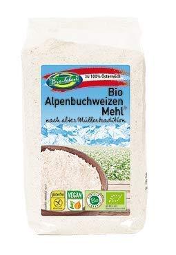 Harina de trigo sarraceno ecológica sin gluten 2,4kg Bio biológicoa de grano entero sin OMG alforfón crudo de Austria 6x400g