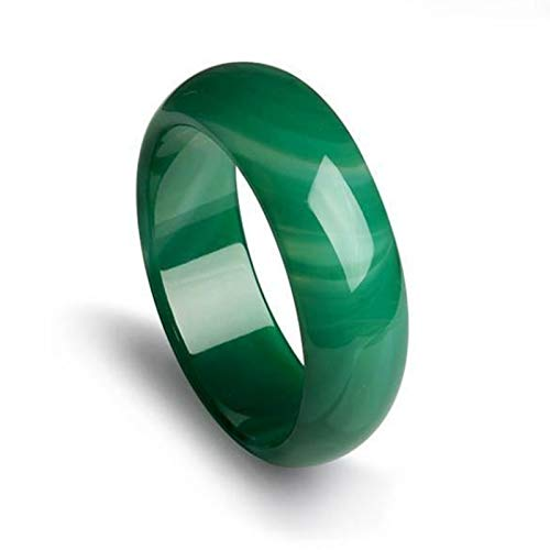 AMQ Pulsera Brazalete Brazalete De Jade De Ágata Verde Natural para Mujer,60-62mm