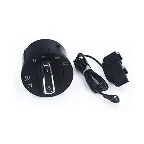 MZWNQ Faro automático Luz antiniebla Interruptor de lámpara 5G0941431AH 5G0 941 431AH / Ajuste para VW T-Cross Seat Arona/Ajuste para Ateca Ibiza Leon Toledo Euro Automatic. (Color : Auto Set)