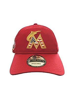 New Era Miami Marlins Adjustable Strapback Hat MLB 9Twenty Curve Bill Caps