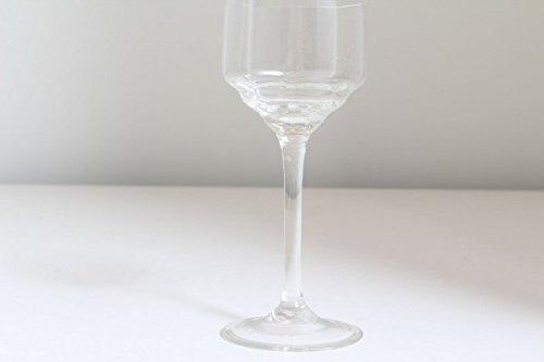 vintage13.de Schlichtes Weinglas Glas Weinkelch Original Jugendstil mundgeblasen Abriß Weiß