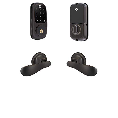 Yale Security B-YRD226-ZW-NV-0BP Yale Assure Lock Z-Wave Navis Paddle-Works with Ring Alarm, Smartthings, and Wink Smart Touchscreen Deadbolt with Matching Lever, Bronze