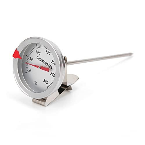 Termometro per alimenti con sonda, termometro per frittura barbecue Cucina per alimenti Termometro per carne con quadrante da 5 cm per coppa dell olio TTE35125(30cm)