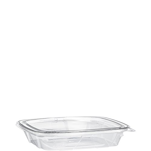 Dart CH1620DSF 16/20 oz Shallow Tamper-Resistant Clear Hinged Container (Case of 200)