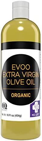 MD LIFE Organic Extra Virgin Olive Oil 16oz 100 Pure Unfiltered Extra Virgin Olive Oil Cold product image