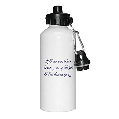 GFGKKGJFD - Botella de Agua de Aluminio para Mujer, niños, Color Blanco