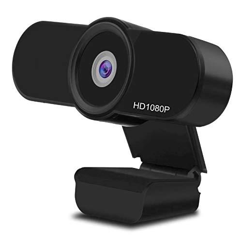GeekerChip Webcam per PC,Webcam 1080p con Microfono e Webcam Cover,USB 2.0 Videocamera,per Laptop, Computer, PC, Desktop,per Video dal Vivo, Conferenze, Videochiamate, Lezioni Online e Giochi