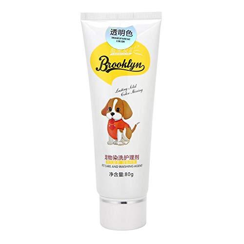 Geschenk voor april Professionele 80g Langdurige Kleur Effect DIY Haarverf Crème, Pet Haarverf Crème, voor Pet Dog Voedende(Transparent color)
