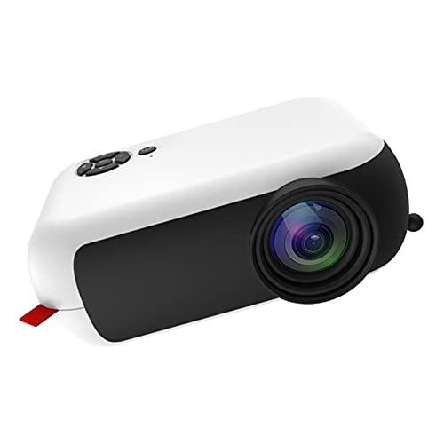 balikha Mini proiettore Portatile 1080P Home Theater Cinema HDMI USB SD AV Videoproiettore Video Film Dimensioni: 135x97x50mm, Piccolo e Portatile, Bianco