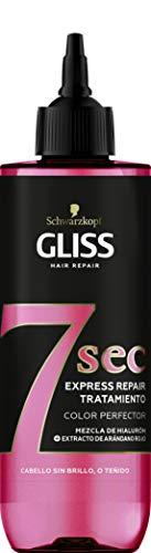 Schwarzkopf Gliss - Tratamiento Capilar Fluido Express 7 Segundos con Aclarado, Brillo&Color, 200 ml, Potenciamiento Instantáneo del Color del Cabello, potente como una Mascarilla en solo 7 segundos