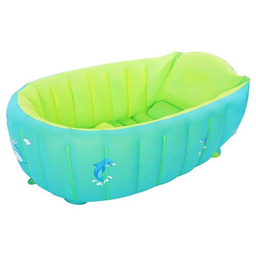 Bañera para niños pequeños, lavabo de ducha plegable de PVC, bebé antideslizante portátil de 0 a 6 años(L)