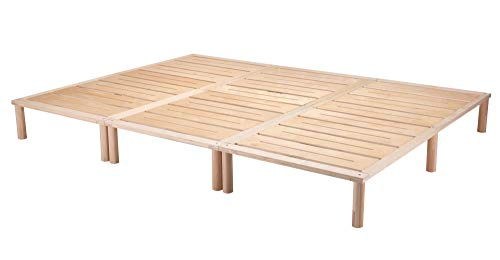 Gigapur G1 29005 Bett, Co-Sleeping, Birke Schicht-Holz, Bettrahmen Belastbar bis 195 kg, Natur, 270 x 200 cm best. aus 3 x 90 cm