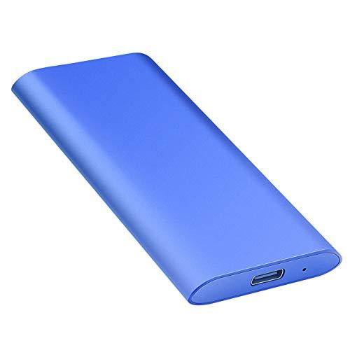 超薄型 外付けHDD ハードディスク ポータブルHDD 外付けハードディス USB3.1/Type C簡単接続 PC/Mac/Windows/XBox適用(1TB, 青)