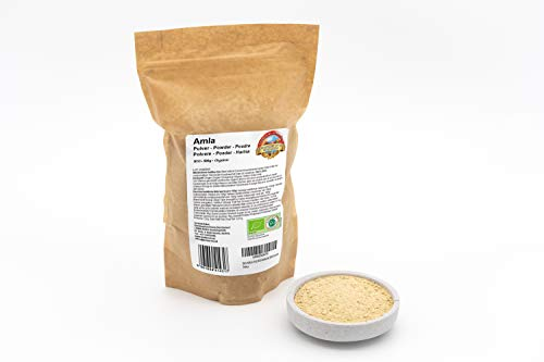 Polvere di Amla Biologica - 500g - Pura e naturale - Senza additivi artificiali - Vegan