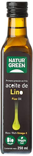 Natur Green, Aceite Virgen de Lino, 250 ml