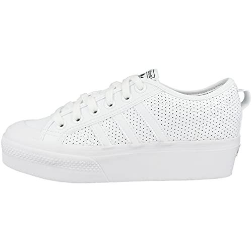 adidas Damen Nizza Platform W Gymnastikschuh, FTWR White FTWR White Core Black, 40 EU