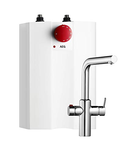 AEG Haustechnik AEG 234238 Heißwassersystem inkl. Spezialarmatur mit Kindersicherung, 5 + AEuS HOT, 2kW, 5l, drucklos, 230 V