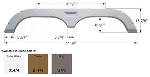 Icon Fleetwood 5th Wheel Travel Trailer Fender Skirt FS720 - Grey